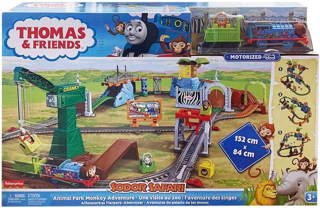 Thomas /& Friends Sodor Safari Animal Park Monkey Adventure Set