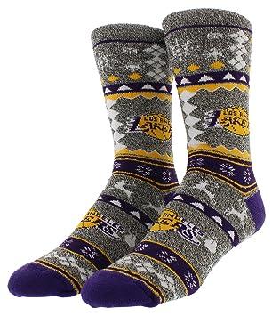For Bare Feet NBA feo Navidad vacaciones calcetines, LA Lakers ...
