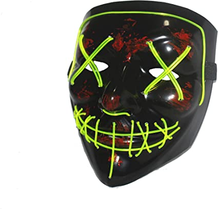 Halloween LED Mask Purge Masks Election Mascara Costume DJ Party Light Up Mask
