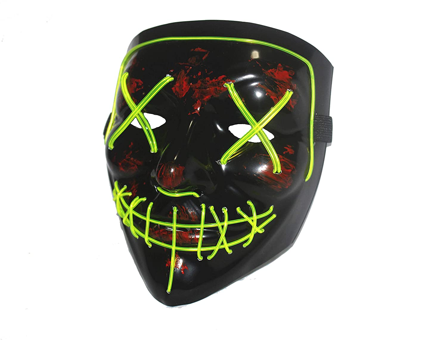 Halloween LED Mask Purge Masks Election Mascara Costume DJ Party Light Up Masks Glow in Dark