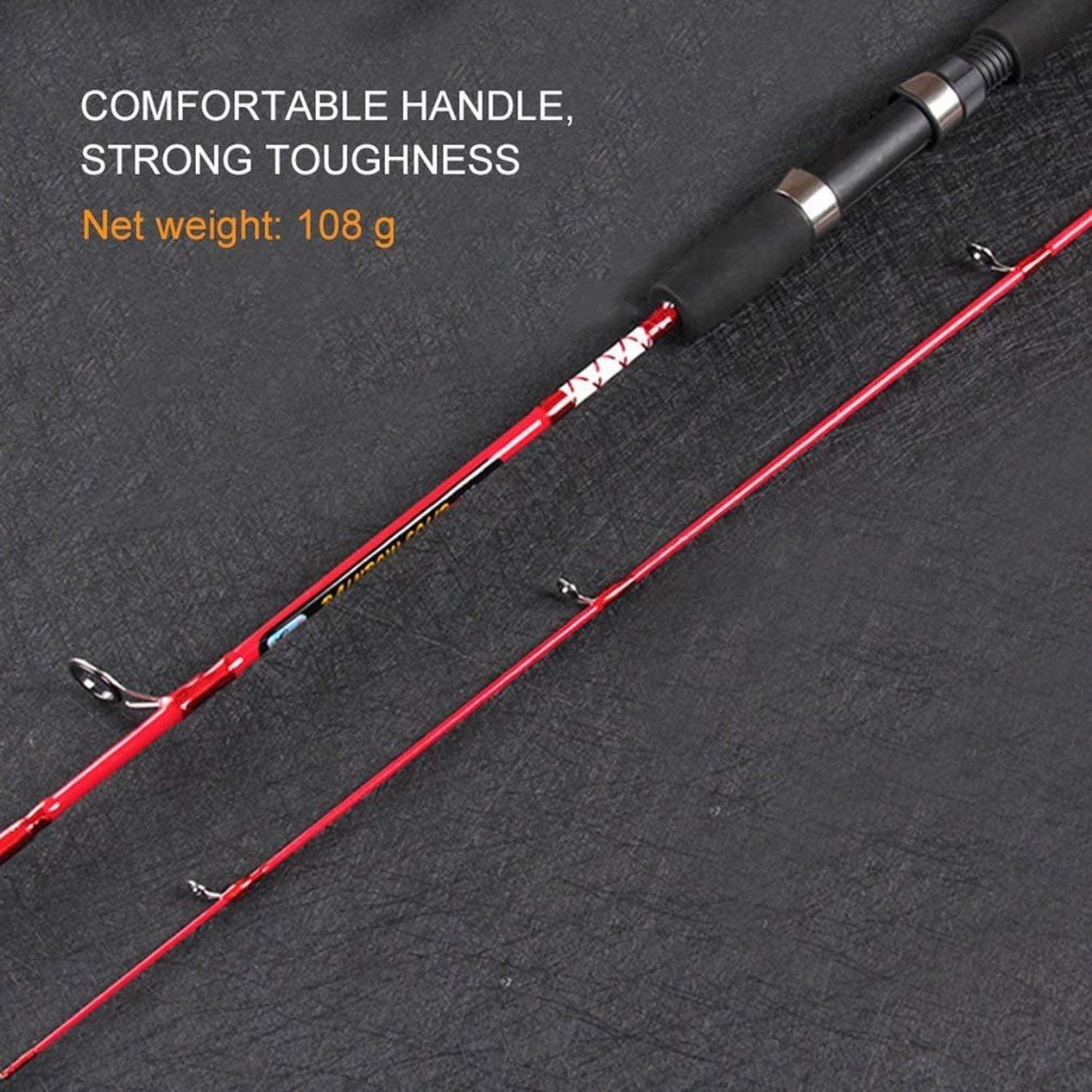 EdBerk74 ca/ña de Pescar s/ólida de Fibra de Carbono Alta Aparejos de Pesca Aparejos de Pesca Accesorios para r/ío Lago mar 120//135//150 cm