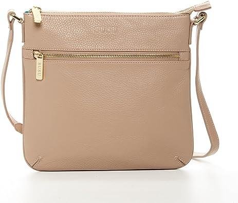 Lightweight Black Cross body Messenger bag purse with Wristlet straps