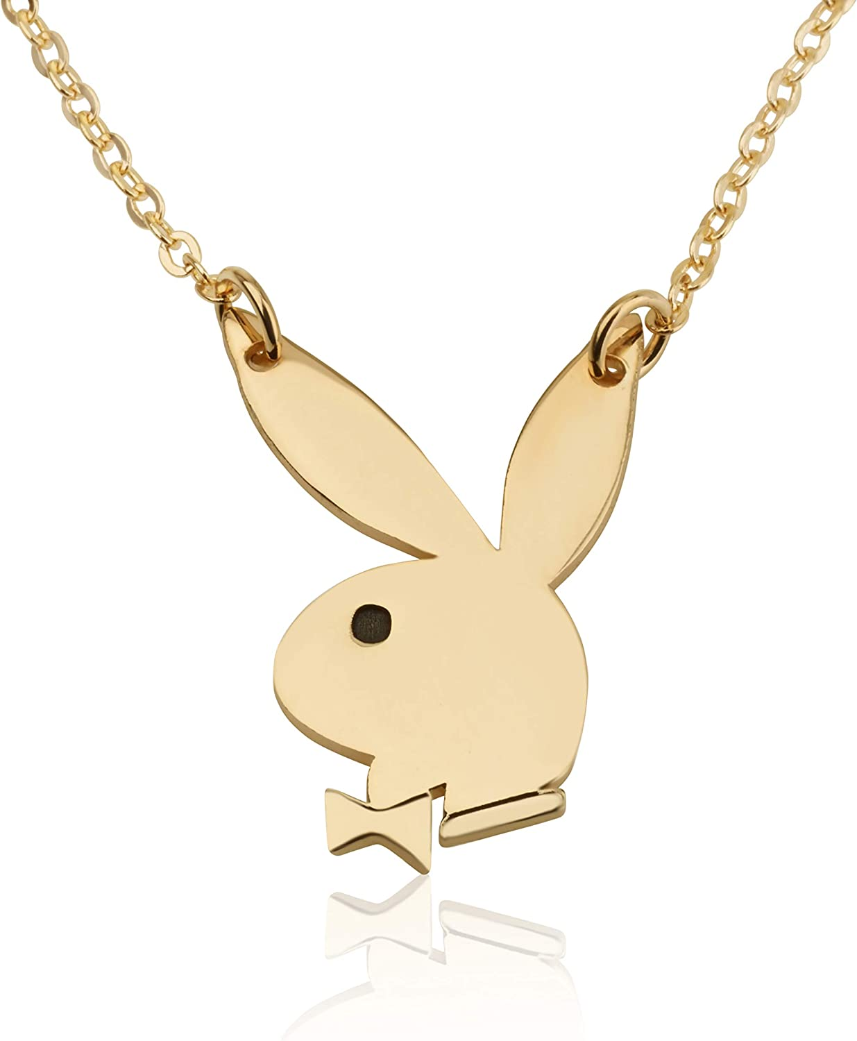 Handmade Playboy Bunny Symbol Necklace Charm Adult Pendant Gift For Her BFF Jewelry best friend gifts
