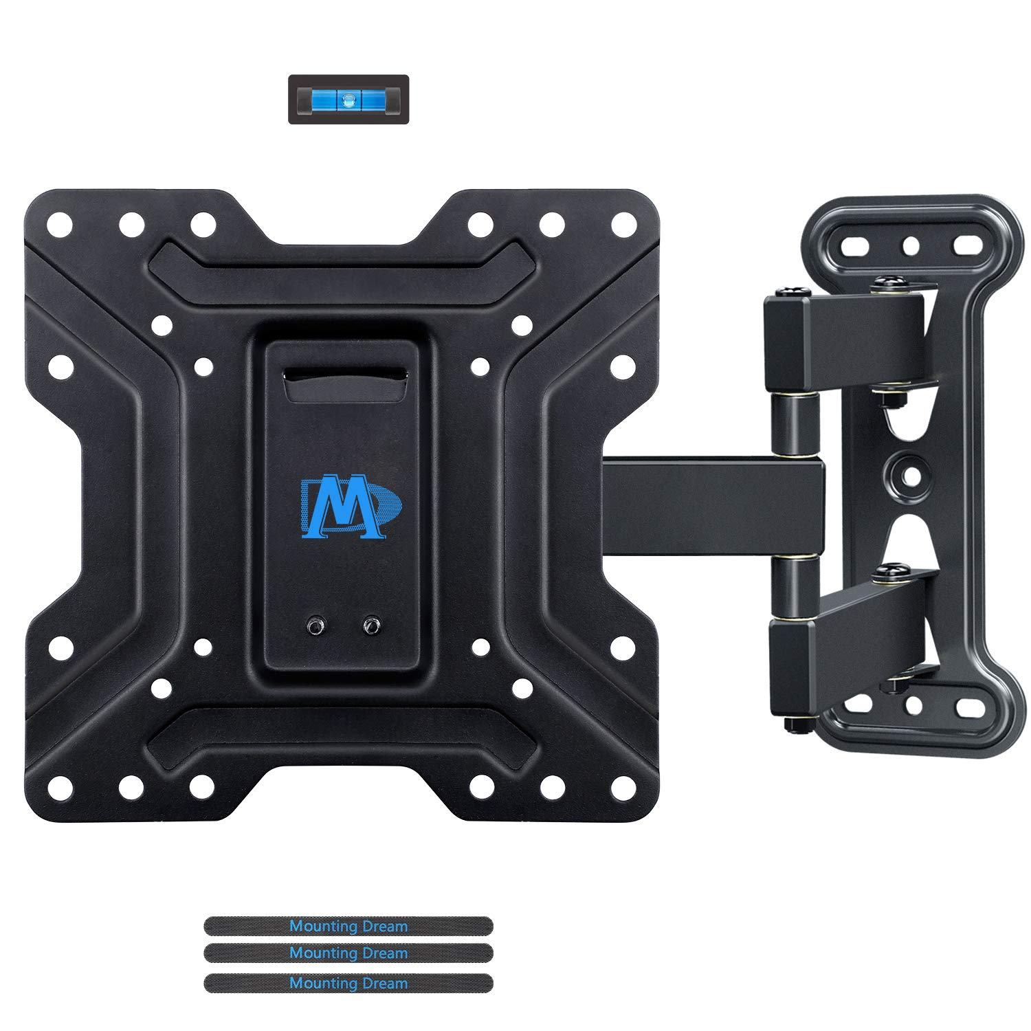 """Mounting Dream TV Wall Mounts TV Brackets for Most 17-39"""" Flat Screen TV, Full Motion TV Mounts with Swivel Articulating 18.8"""" in Extension Arm, up to 60lb VESA 200x200, Perfect Center Design,MD2413-S"""