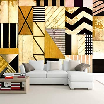 Amazon Com Amazhen Custom 3d Wallpaper Abstract Geometric