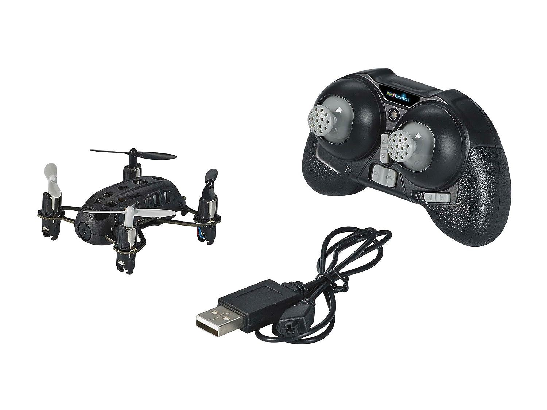 Revell Control RC Quadrocopter mit Kamera, ferngesteuert mit 2,4 GHz Fernsteuerung, Micro Modell, Geschwindigkeitsstufen, Flip-Funktion, LED-Beleuchtung, Gyro, USB-Ladegerät, NANO QUAD CAM 23923 Revell_23923