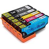 OfficeWorld Sostituzione per Epson 33 33XL Cartucce d'inchiostro Alta Capacità Epson Expression Premium XP-530 XP-630 XP-635 XP-830 XP-640 XP-900 XP-540 XP-645