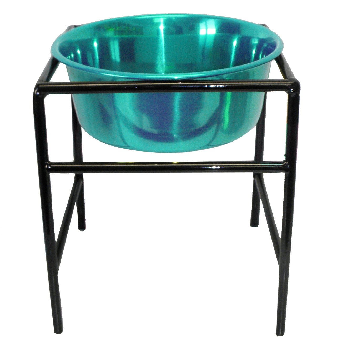 Platinum Pets Modern Single Diner Stand with 1-Quart Heavy Bowl, Teal