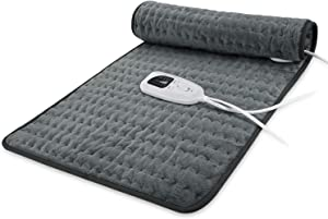 Heating Pad, Electric Heat Pad for Back Pain and Cramps Relief - Electric Fast Heat Pad with 6 Heat Settings Moist Heat Therapy Options -Auto Shut Off- Machine Washable (33 * 17)