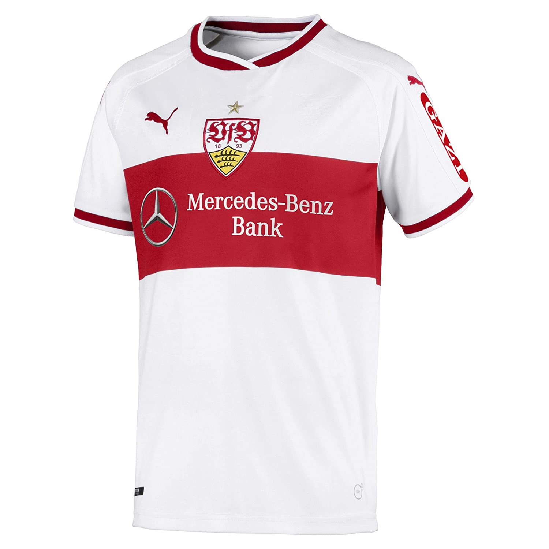 Puma Kinder VfB Stuttgart Home Replica Shirt Jr W.Sponsor Trikot