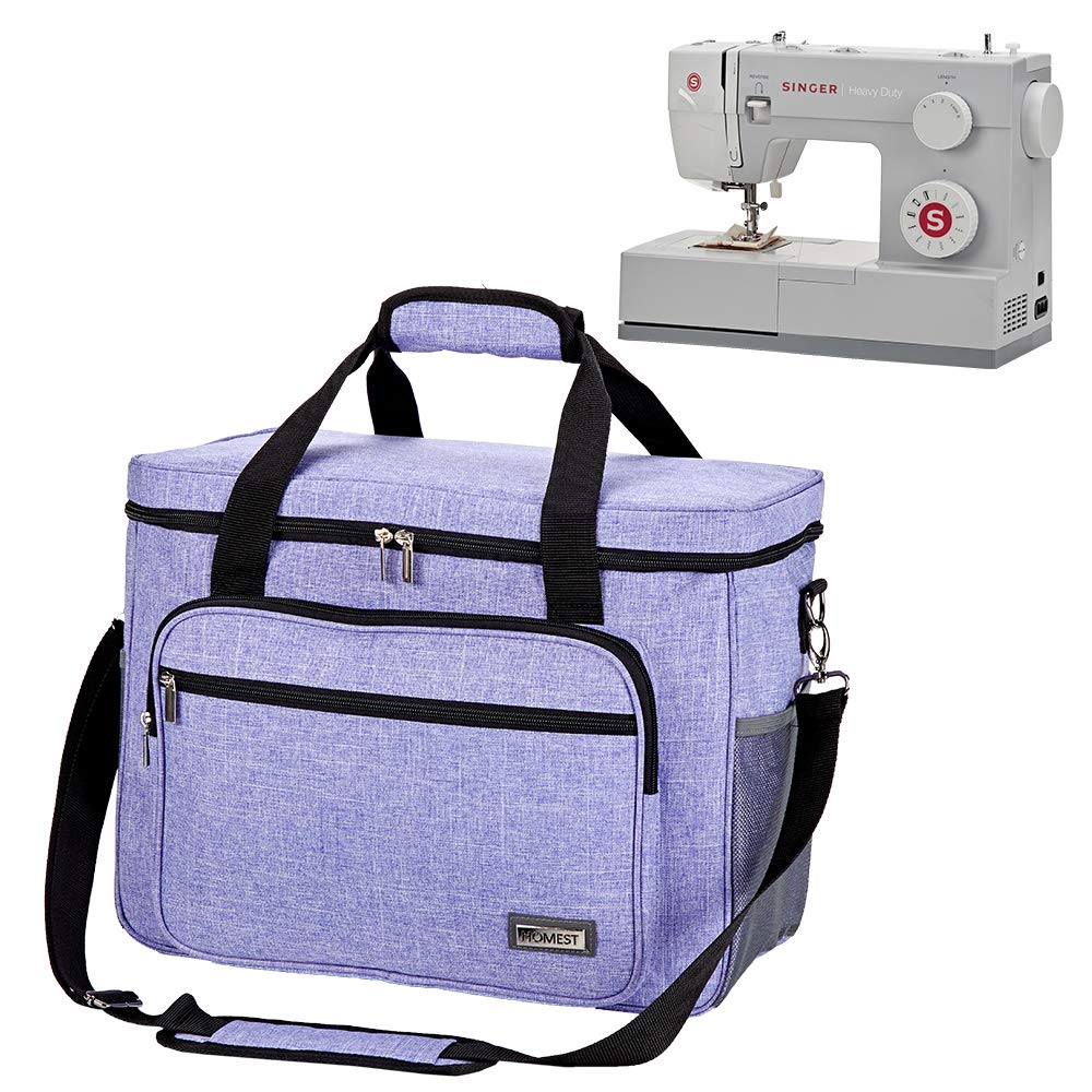 HOMEST Sewing Machine Carrying Case Janome Universal Tote Bag with Shoulder Strap Compatible with Most Standard Singer Grey Brother