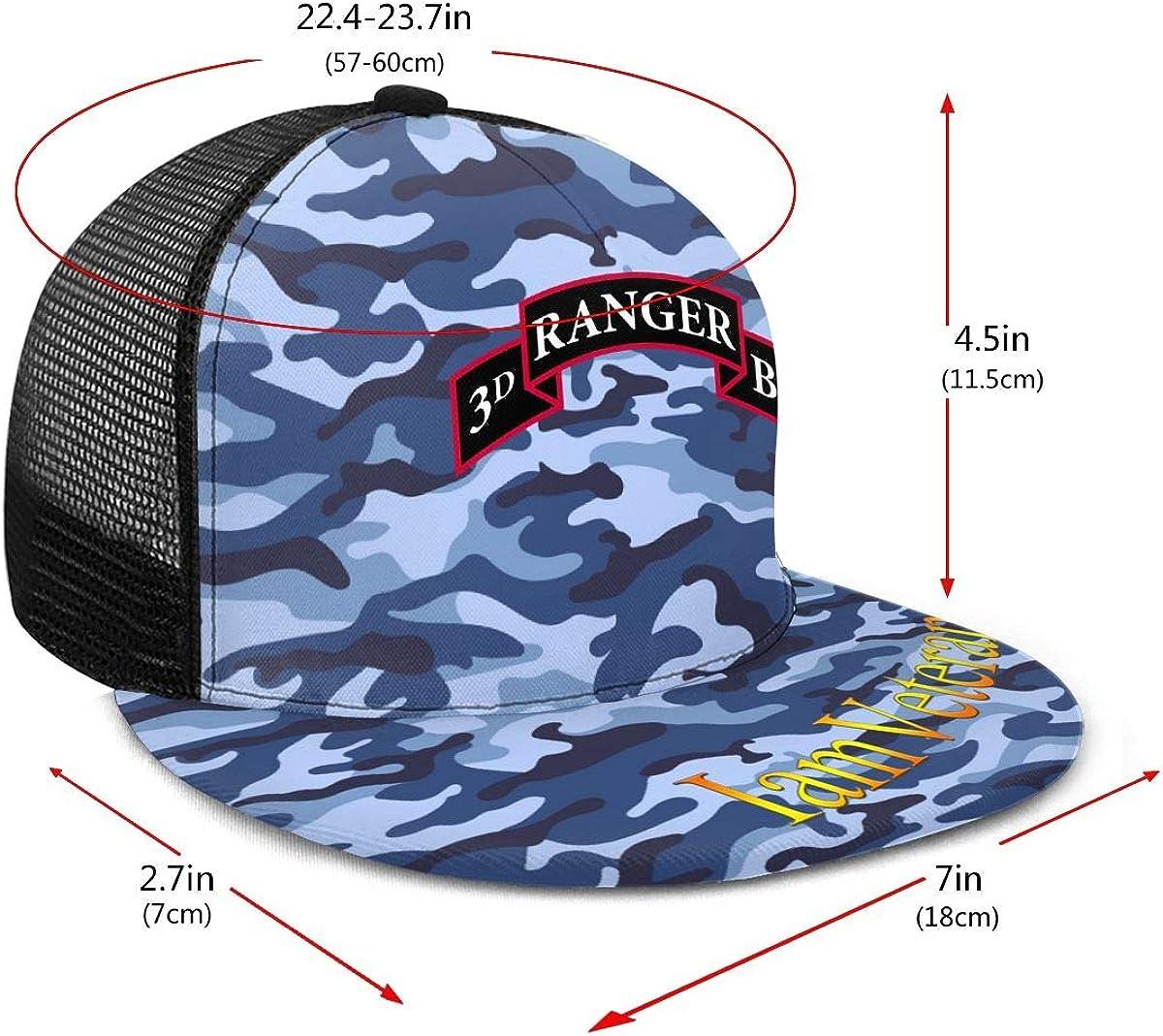 3rd Ranger Battalion Classic Grid Cap Flat Along Baseball Hat Snapback Men Women Hat Adjustable