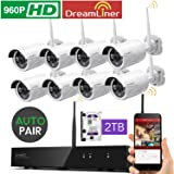 [Dream Liner WiFi Booster] xmartO WOS1388-2TB 8 Channel 960p HD Wireless Security Camera System with 8 HD Outdoor Wireless IP Cameras and 2TB Hard Drive (Auto-Pair, Built-in Router, 1.3MP Camera)