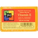 365 Everyday Value Vitamin E Vegetable Glycerin Soap, 4 oz