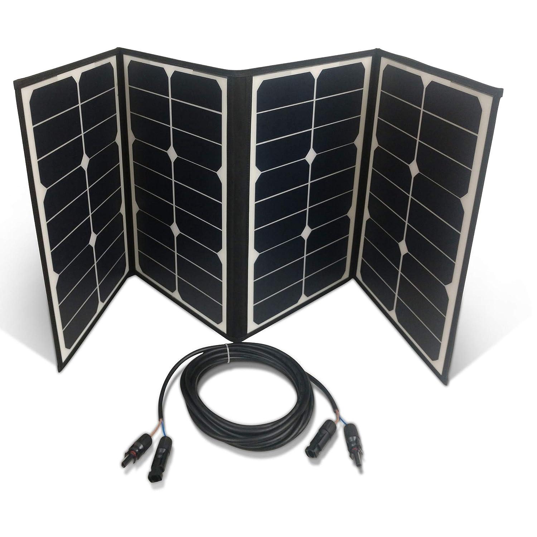 Boss Watt 75W Folding Solar Panel with MC4 Kickstand Supports