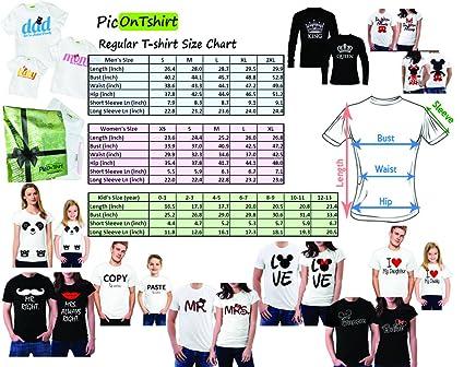 52dc9117e1 picontshirt Funny Matching Couple Lover Novelty T-Shirts Design 152 |  Amazon.com