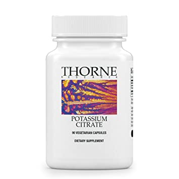 Thorne Research - Potassium Citrate - Highly-Absorbable Potassium Supplement - Best Potassium Supplements to take for Leg Cramps