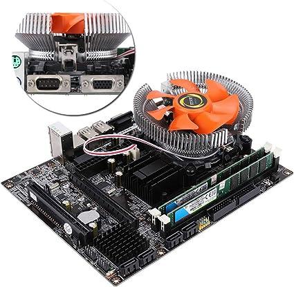 Placa base de cuatro núcleos para PC (Socket LGA 771/775, 2 × DDR3 DIMM, 4 × SATA2.0, 4 × USB2.0, Tarjeta de red RTL8105E), Placa base de escritorio con sensor E/L5430, Ventilador