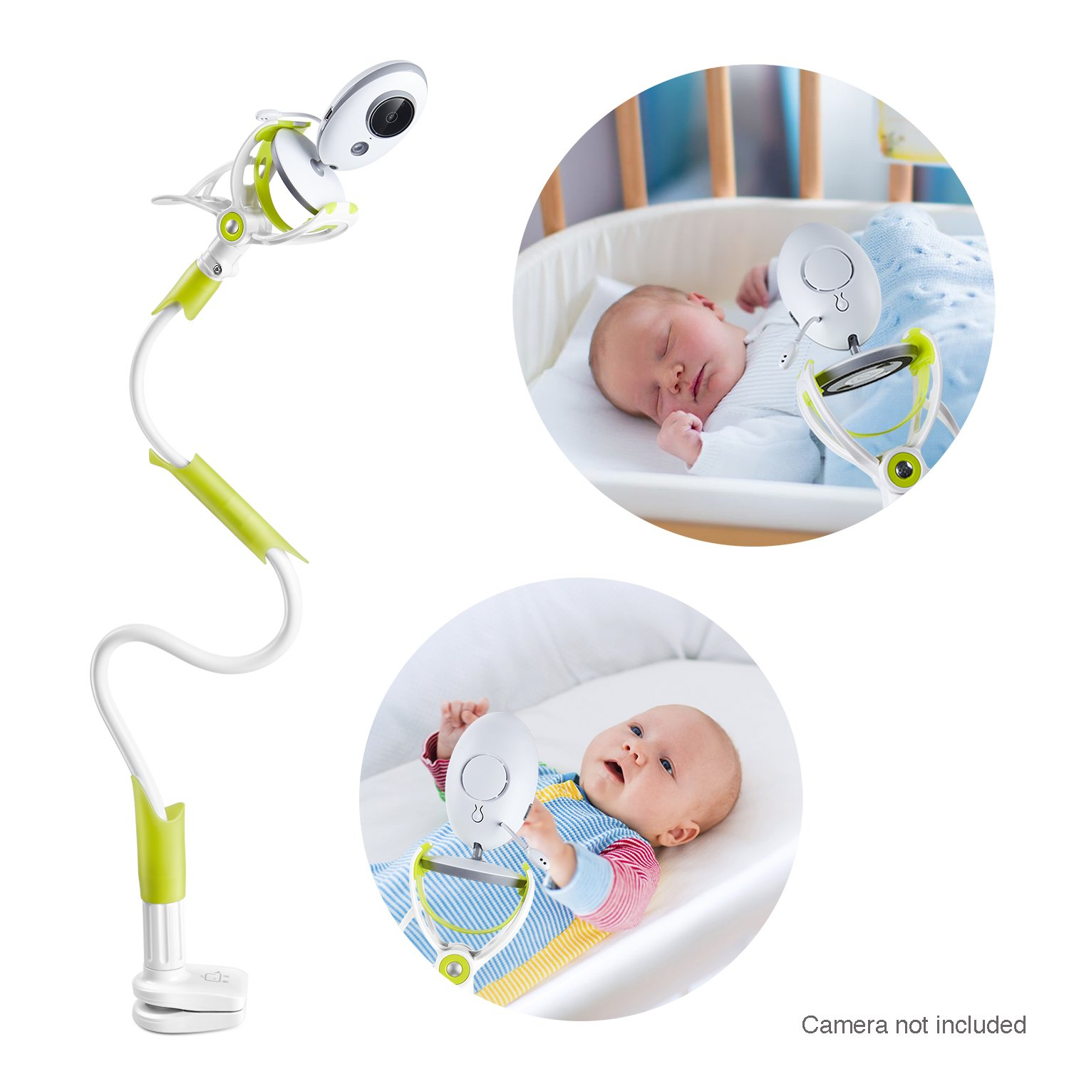 GOLOHO Baby Monitor Holder and Shelf - Compatible with Most Baby Monitors - Easy to Get a Complete Safe View of Your Baby, Green