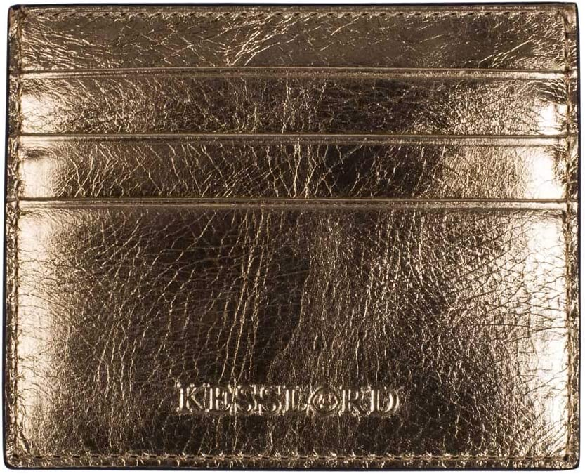 Femme Kesslord CB MT Petite Maroquinerie Porte-Cartes Krock en Cuir de Vachette m/étallis/é BZ Bronze
