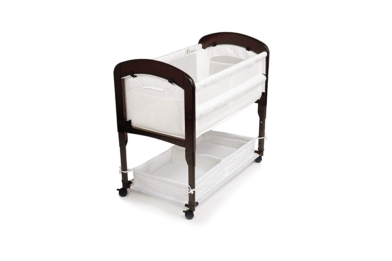Arm s Reach Concepts Cambria Co-Sleeper, White Espresso