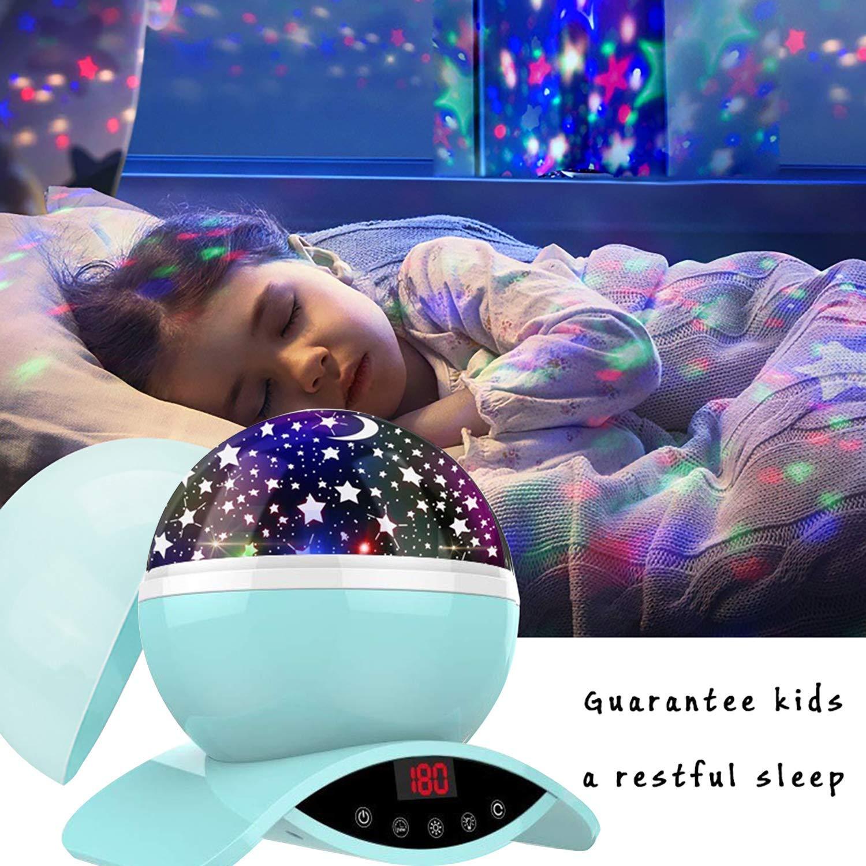 LED Nachtlicht mit Wiederaufladbare Batterie 360 Drehen und Timing Schlaflicht f/ür Kinders Schlafzimmer Beste Geschenke f/ür Frauen Amouhom Sternenhimmel Projektor Lampe mit Fernbedienung /… Gelb