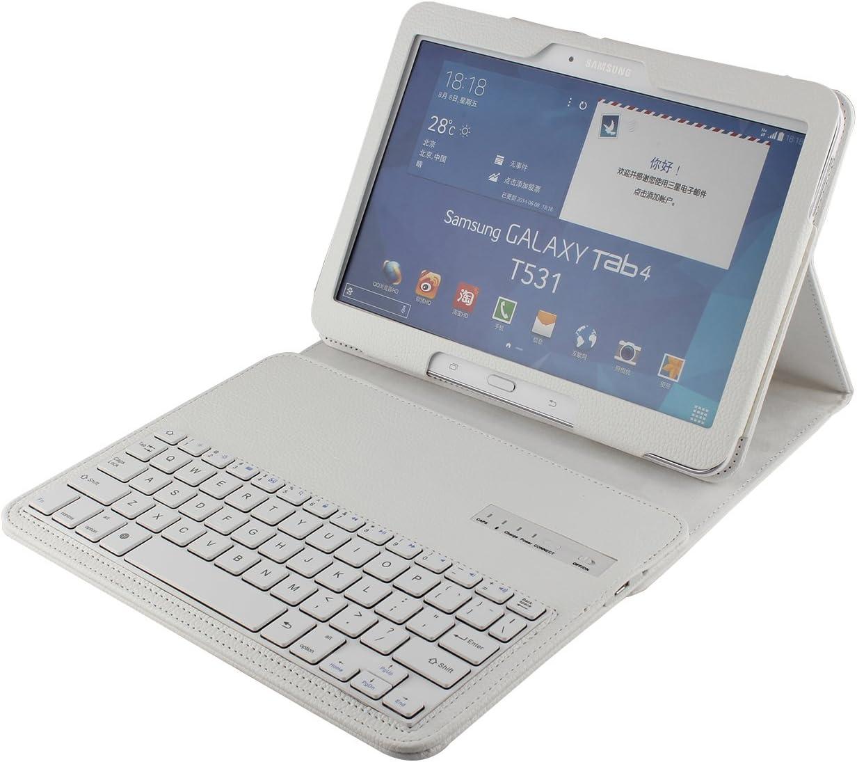 J&H Samsung Galaxy Tab 4 10.1 Funda de piel con teclado para ...