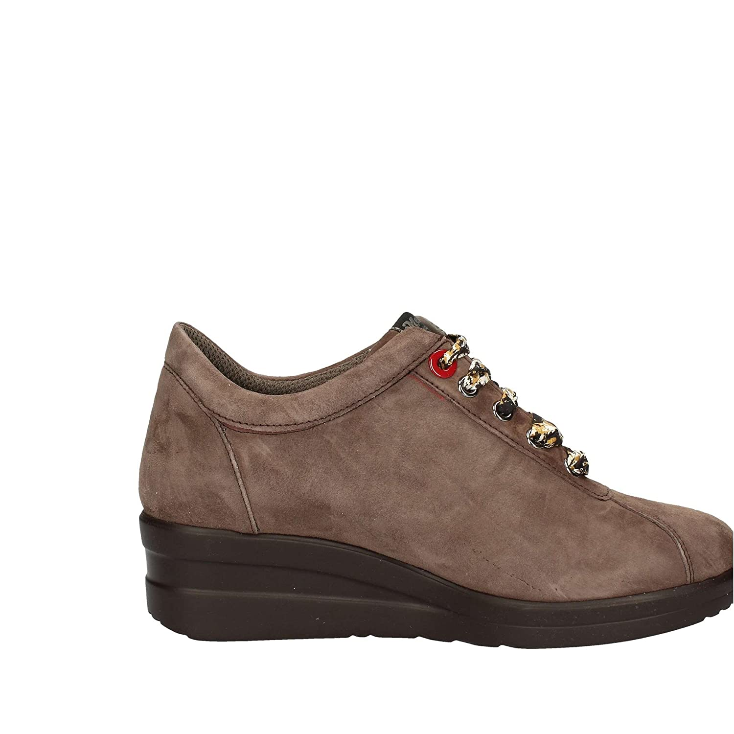 Piombo in Italy Made Zeppa Donna MELLUSO Pelle Sneaker R25802 Scarpa aw7ZT5xHq