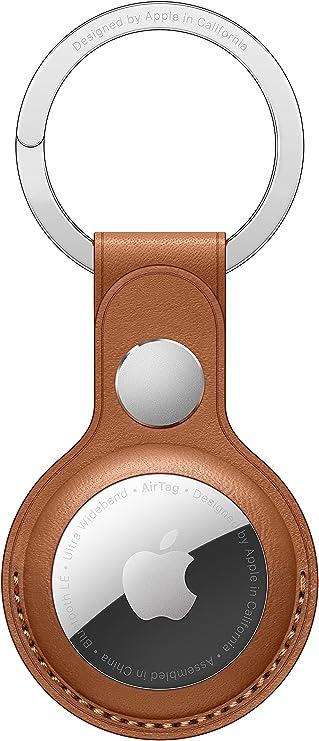 Apple AirTagレザーキーリング - サドルブラウン