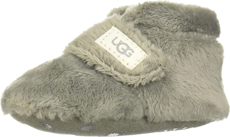 -UGG babygirls Bixbee Ankle Boot, Charcoal, 4-5 Infant US