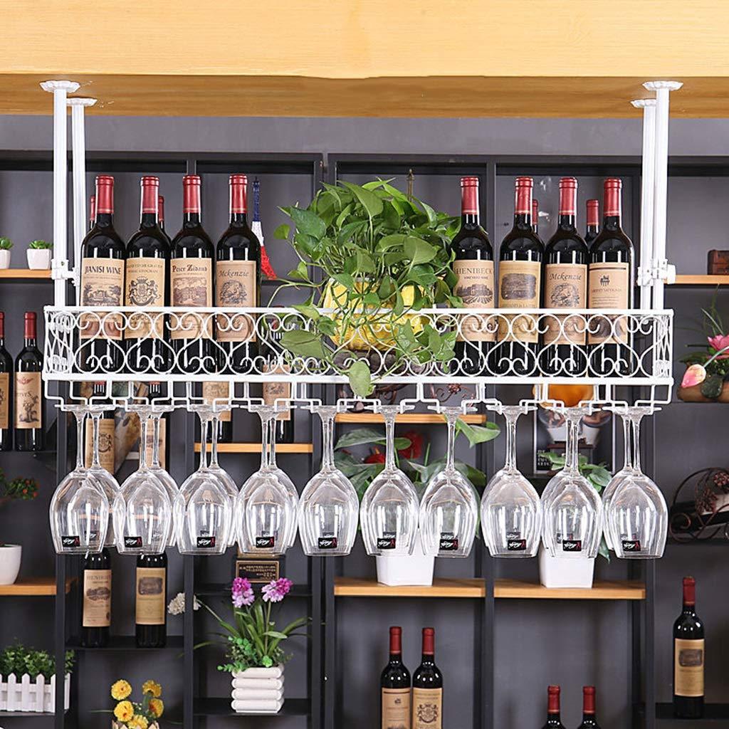 Estante para vinos Portavasos de Vino Barro casero de Hierro Forjado Estante de cáliz Rojo del Hotel Estante para vinos de Varios tamaños Blanco y Negro ...