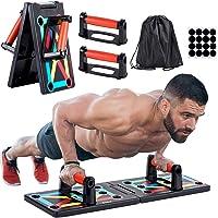JoyCube Opvouwbaar 9-in-1 Push up Board + Hand Grip Trainer(10kg-60kg),Opdrukbeugels voor Spiertraining, Bodybuilding en…