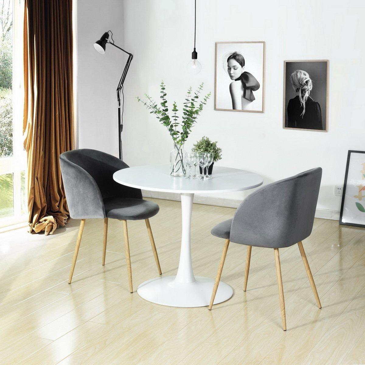 1xsilky samt akzent sessel f r kleine k che esszimmer b ro wohnzimmerstuhl grau ebay. Black Bedroom Furniture Sets. Home Design Ideas