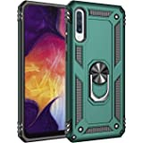 """Samsung Galaxy A50 Case, Extreme Protection Military Armor Dual Layer Protective Cover with 360 Degree Unbreakable Swivel Ring Kickstand for Samsung Galaxy A50 2019 6.4"""" Jade Green"""