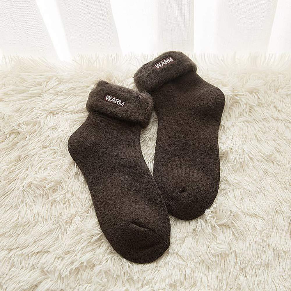 BHYDRY Invierno rizado gruesas letras cepilladas cálidos bordados calcetines de moda de Navidad: Amazon.es: Ropa y accesorios