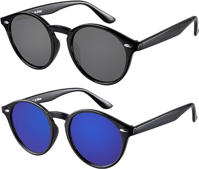 Designer Runde Flache Linse Sonnenbrille Groß Retro Uv400 Herren Damen