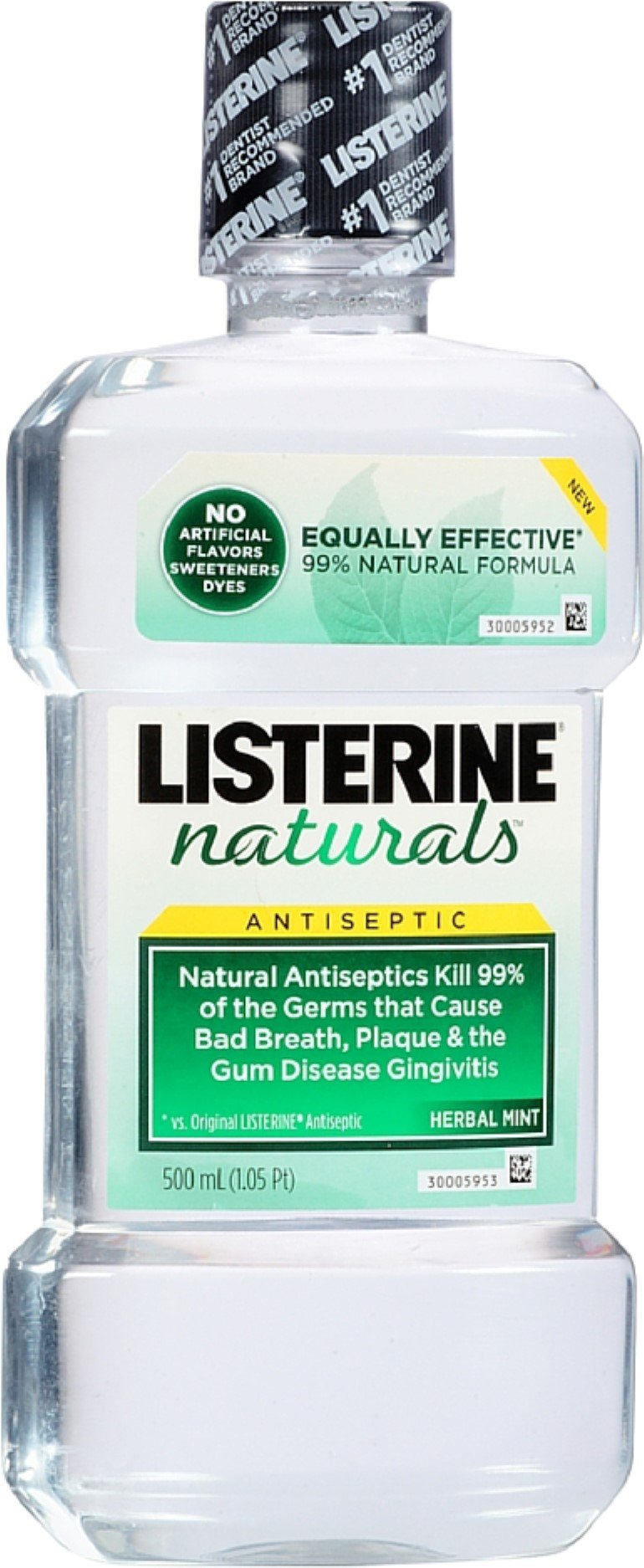 Listerine Nat Antsptic Hr Size 16.9z Listerine Naturals Antiseptic Herb/Mint 16.9z by Listerine (Image #1)
