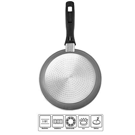 Stoneline 6841 - Sartén (aluminio, con revestimiento antiadherente, 24 cm de diámetro, sin tapa de cristal): Amazon.es: Hogar