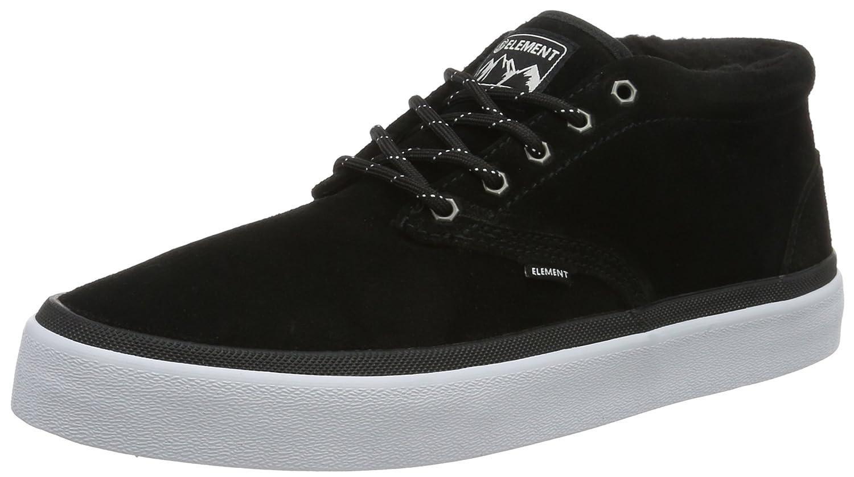 Element Herren Preston Sneakers Low-Top  44.5 EU|Schwarz (19 Black)
