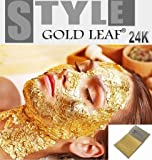 20 x Gold Leaf Leaves 24K Carat PURE 99.9% for SPA Facial Mask Anti Aging 3.5x3.5cm