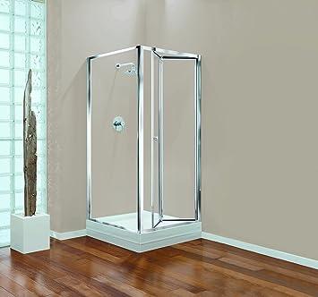 Coram Showers Gbbf70cuc 700 X 1800 Mm Bi Fold Door With Chrome Framework Effect Amazon Co Uk Diy Tools