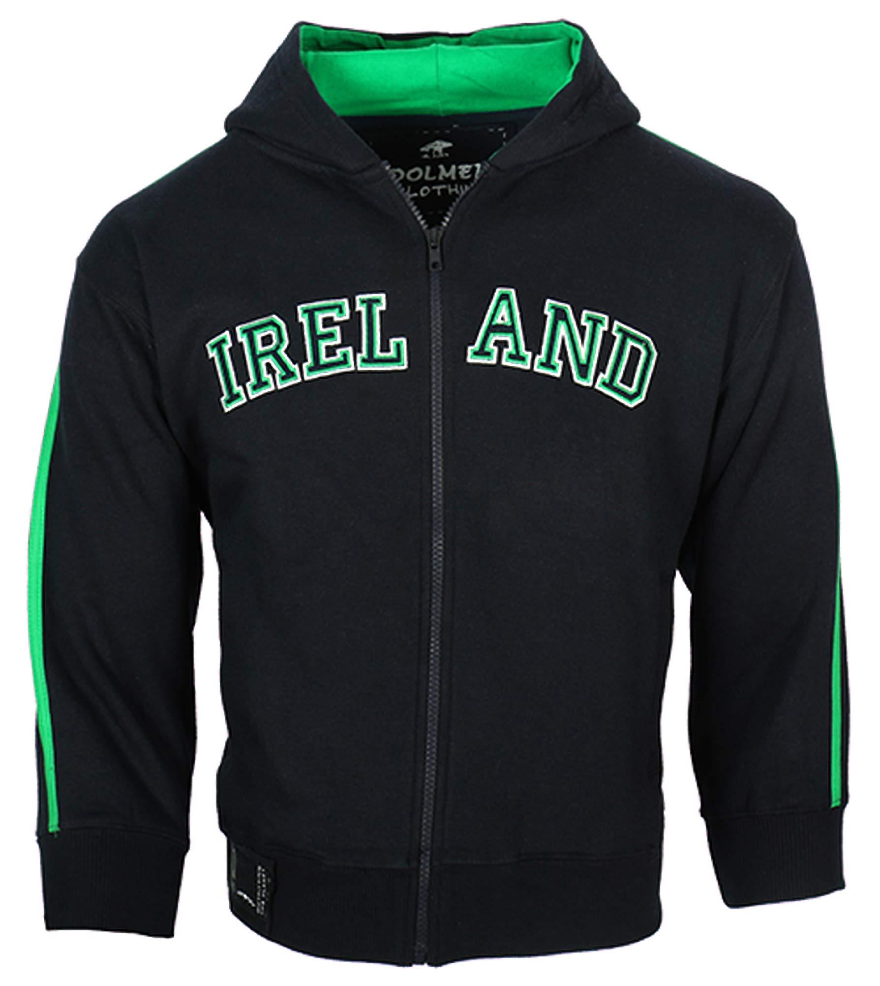 Malham USA Kids Ireland Retro Zip Hooded Sweatshirt (Navy, 7-8 Years)