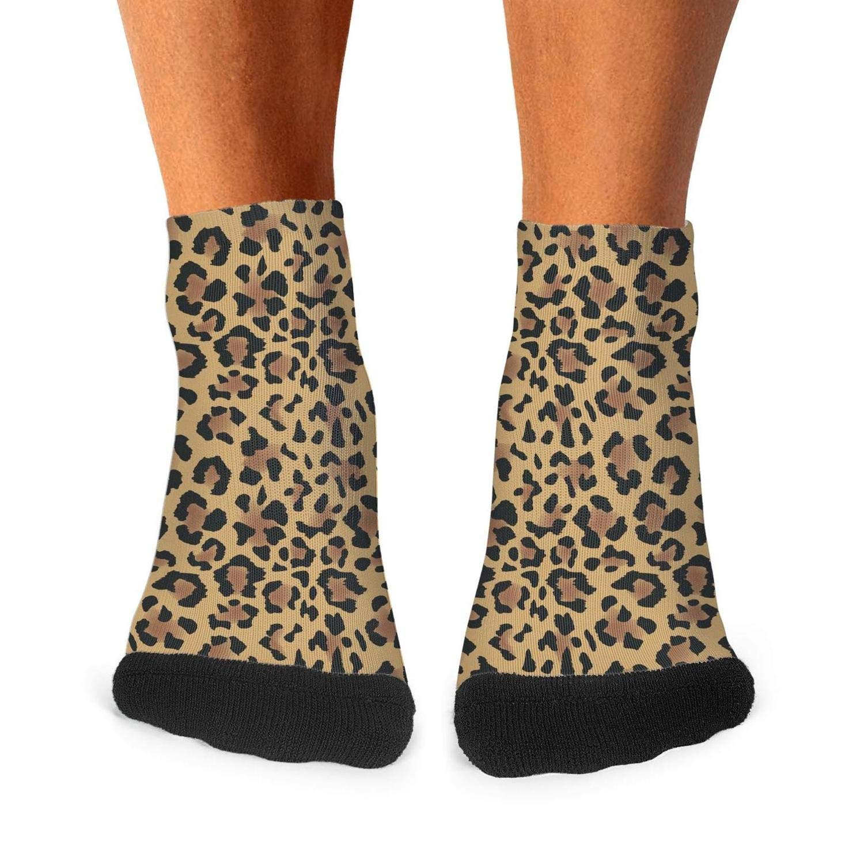 Mens Athletic Low Cut Ankle Sock Animal Leopard Print Skin Snakeskin Short Sports Sock