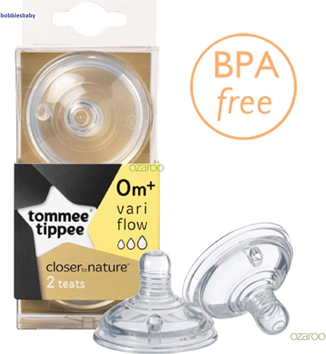 3 pack 6 teat Tommee Tippee Ultra 0 months Slow Flow Silicone Teats BPA FREE