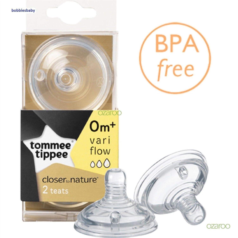 CTN Vari Flow Teats from Tommee Tippee 2 in a Pack. Bpa Free Age 3m+ (vari Flow)