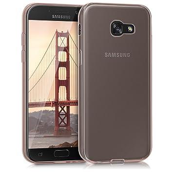 kwmobile Funda compatible con Samsung Galaxy A5 (2017) - Carcasa de TPU para móvil - Cover trasero en oro rosa