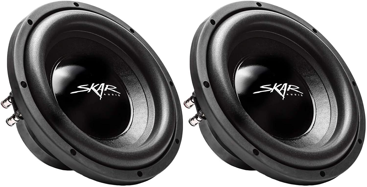 "(2) Skar Audio iX-10 D4 10"" 400W Max Power Dual 4 Ohm Car Subwoofers, Pair of 2"