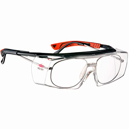 909da0682c5dc NoCry Over-Glasses Safety Glasses - with Clear Anti-Scratch Wraparound  Lenses