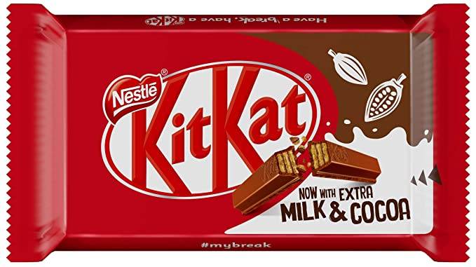 Nestlé KitKat Chocolate con Leche - Barritas de chocolate con leche, Snack de chocolate 36x41