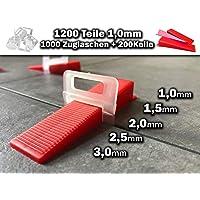 Verlegehilfe 1000 Laschen Zange + 600 Keile 2 mm Fliesen Nivelliersystem